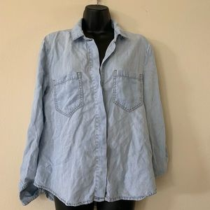 New Cloth and Stone Split Back Button Up Shirt